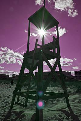 Guard Digital Art - Lifeguard Tower II by Betsy Knapp