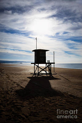 Lifeguard Tower Newport Beach California Art Print by Paul Velgos