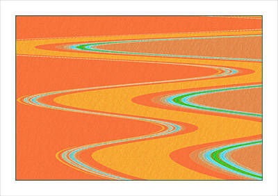 Contemporary Abstract Digital Art - Life's An Adventure by Bonnie Bruno
