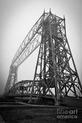 Duluth Photograph - Lift Bridge Standing Strong In Fog by Mark David Zahn