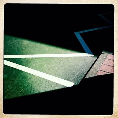 Line Photograph - Light And Shadow Triangles by Matthias Hauser
