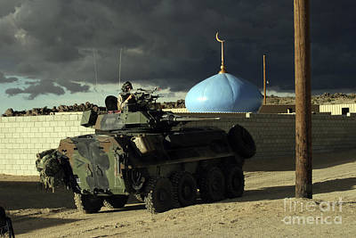 Light Armored Vehicle Commander Mans Art Print by Stocktrek Images