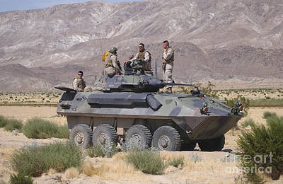 Photograph - Light Armored Vehicle Crewmen Take by Stocktrek Images
