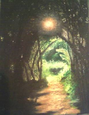 Light At The End Of The Trail Art Print by Samuel McMullen