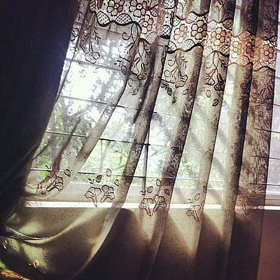 Unique Photograph - Light Beaming Through The Curtain by Shejuti Biswas