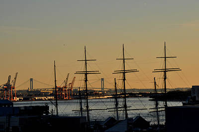 Art Print featuring the photograph Light Before Sunset From The Brooklyn Bridge by Diane Lent