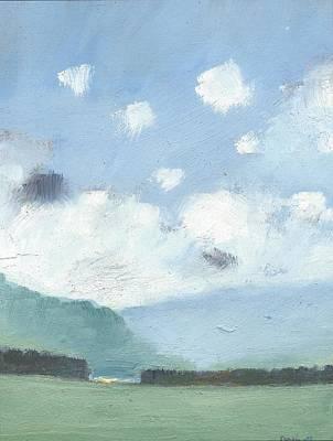 Light Blue Morning Art Print by Alan Daysh