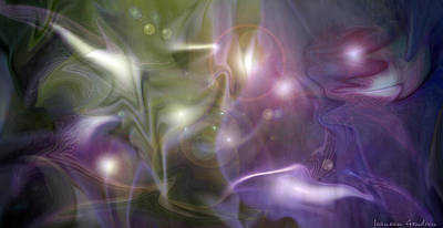 Light Dance Art Print by Jeanean Gendron
