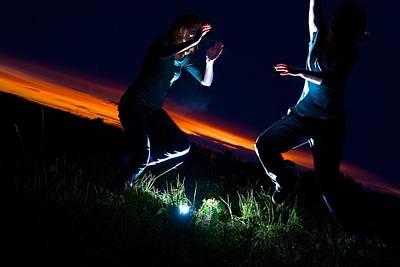 Light Dancers 1 Art Print by JM Photography