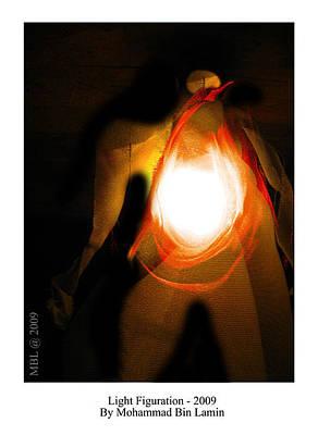 Mohammad Mixed Media - Light Figuration Series by MBL Binlamin