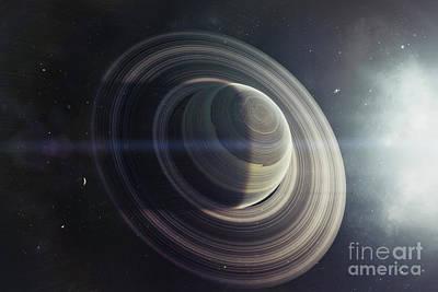Circling Digital Art - Light From A Nearby Star Illuminates by Tomasz Dabrowski