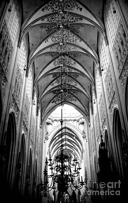 Photograph - Light From Above - Cathedral In Black And White by Carol Groenen