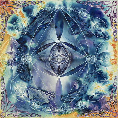 Fractal Geometry Painting - Light Hearted by Paul Brink