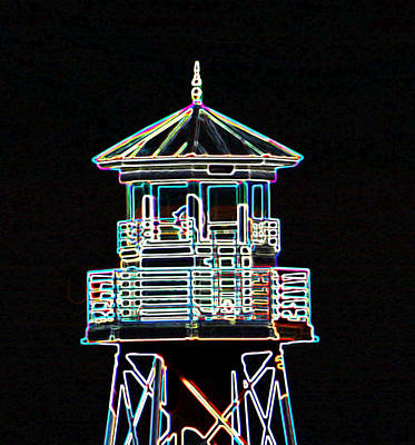 Light House On The Lake Art Print by Dennis Dugan