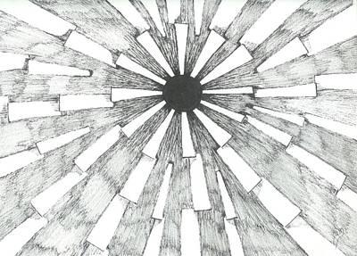Light In The Dark - Sketch Art Print by Robert Meszaros
