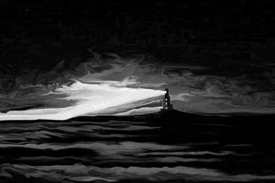 Light In The Storm Art Print by Sheri Strang