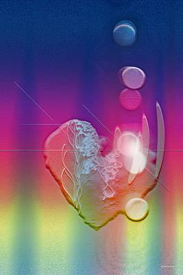 Abstract Hearts Digital Art - Light In Your Heart by Linda Sannuti