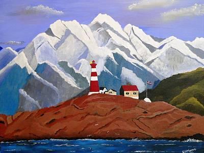 Light On The Fjord Art Print