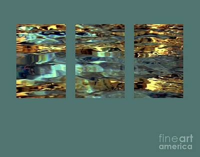 Digital Art - Light On Water Triptych With 24x36 In Panels by Dale   Ford