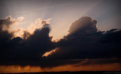 Light Rays And Rainy Skies Art Print by Aaron Burrows