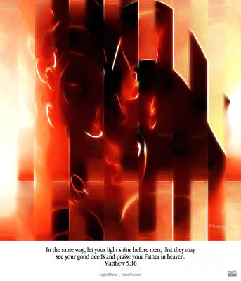 Light Shine. Christian Art Poster Art Print by Mark Lawrence