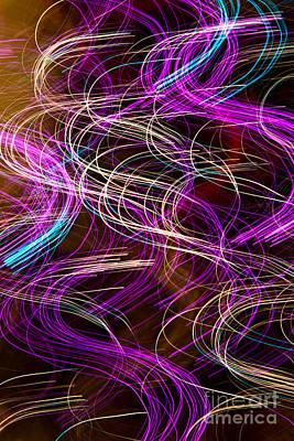 Holiday Photograph - Light Swirls by Susan Candelario