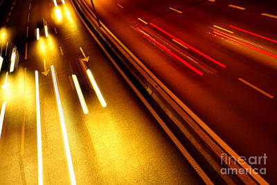 Light Trails Art Print by Carlos Caetano