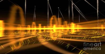Mindscape Digital Art - Light Vibrato by Nick Pearce