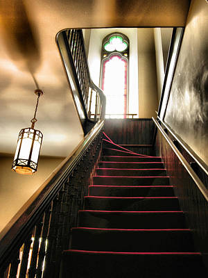 Lighted Stairway Art Print by Steven Ainsworth