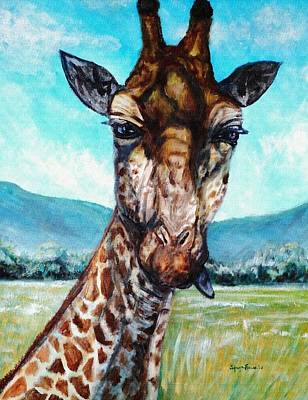 Giraffe Eyes Painting - Lighten Up by Shana Rowe Jackson