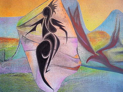 Archetype Mixed Media - Lightening Woman Faces The Phoenix by George  Page