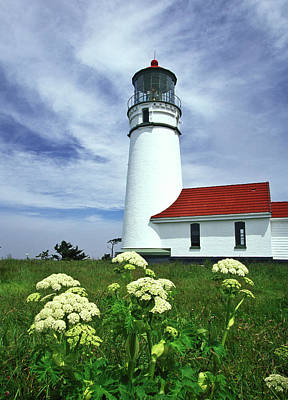 Photograph - Lighthouse And Flowers by Joe  Palermo