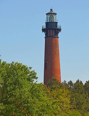 Lighthouse At Corolla N C Art Print by J D  Whaley