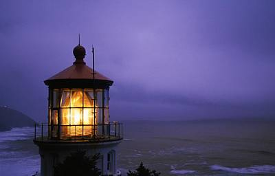 Lighthouse At Heceta Head, Oregon, Usa Art Print by Natural Selection Craig Tuttle