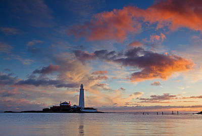 Outerspace Patenets Rights Managed Images - Lighthouse At Sunrise Royalty-Free Image by David Pringle