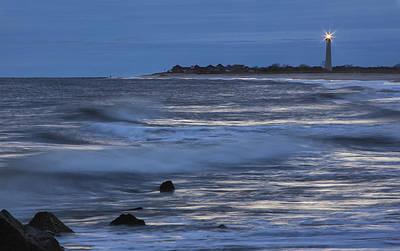 Lighthouse At Twilight Art Print