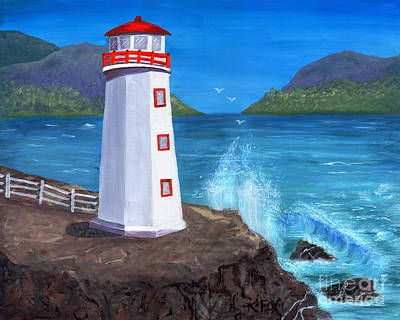 Painting - Lighthouse Bay Painting by Kristen Fox
