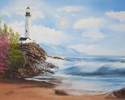 Painting - Lighthouse By The Sea by Kimber  Butler
