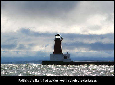 Photograph - Lighthouse Faith by Mark J Seefeldt