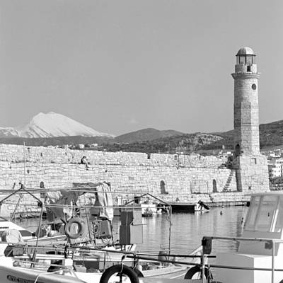 Photograph - Lighthouse  Harbour And Mountain by Paul Cowan