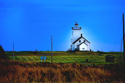 Lighthouse In Darkness Art Print by Rick Bragan