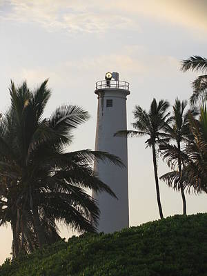 Lighthouse In Hawaii Art Print