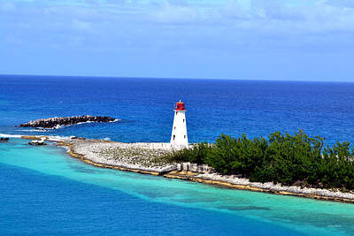 Art Print featuring the photograph Lighthouse In Nassau by George Bostian