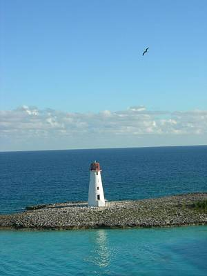 Photograph - Lighthouse In Paradise by Linda Koester