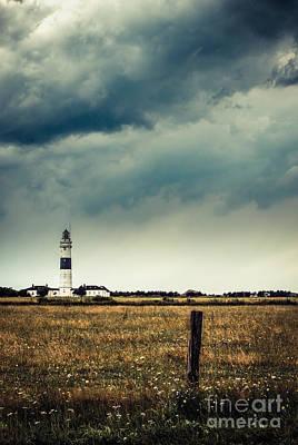 Lighthouse Of Kampen -vintage Art Print by Hannes Cmarits