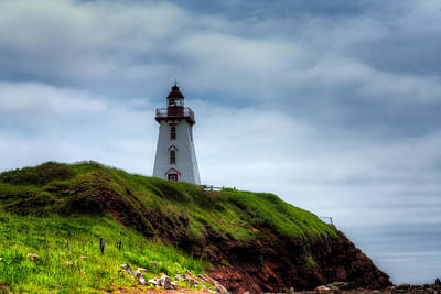 Canadian Heritage Photograph - Lighthouse On A Cliff by Matt Dobson