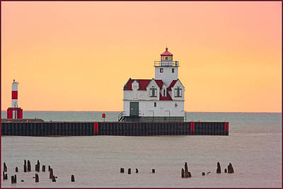 Photograph - Lighthouse-pink At Night by Fuad Azmat