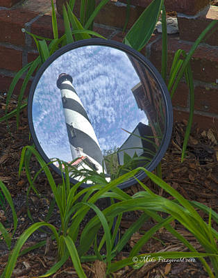 Photograph - Lighthouse Reflection by Mike Fitzgerald