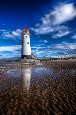 Lighthouse Reflections Art Print by Adrian Evans