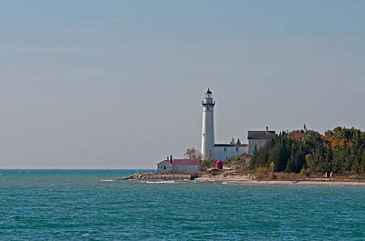 Photograph - Lighthouse S Manitou Island by David Arment